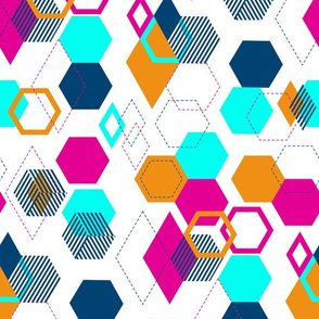 Floating Geometric Broken Color Block