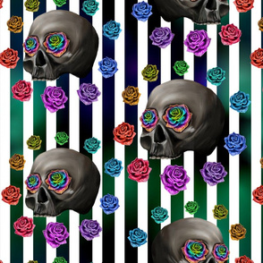 Skull neon stripes