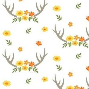 Yellow Floral Antlers