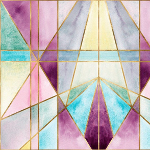 Art Deco Colour Block - Gold