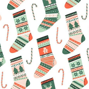 Christmas Stockings and Candy Canes