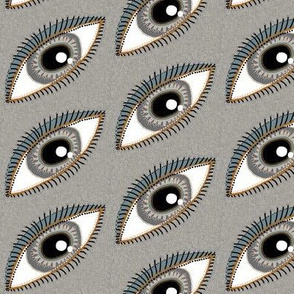 eye eyes neutral, small scale, beige taupe grey gray blue coral brown black white