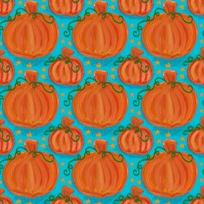 Project 416 | Pumpkins on Teal
