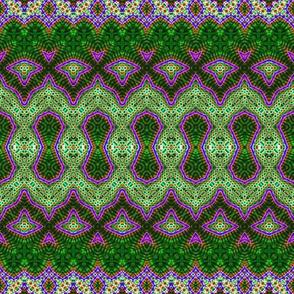 Crackled Random Lace Green & Purple