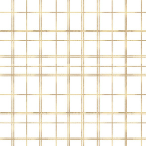 gold white tartan plaid