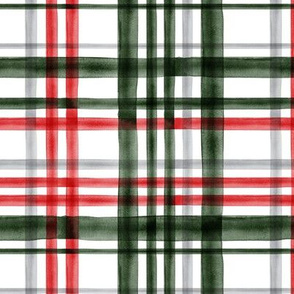 Christmas Plaid - red, green, and grey - LAD19