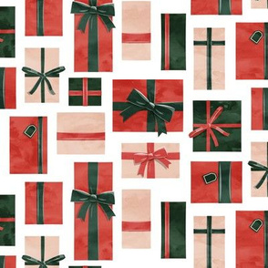 gifts - presents in red, green and blush - LAD19