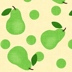 Pear Pretty / Green w/ dots
