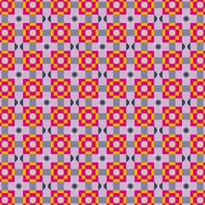 Pixeled Squares - Shade of magenta