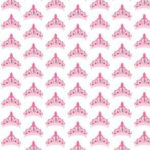 tiara MED267 - princess crown n roses- pink