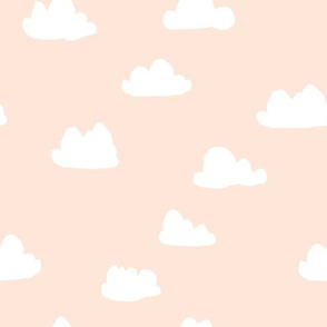 clouds // blush baby nursery girly nursery design for home decor - light