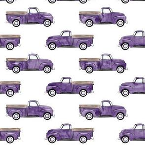 vintage truck - watercolor purple C19BS