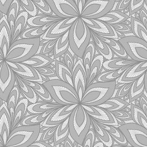 Poinsettia Burst - Gray