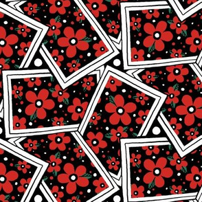 Flower Cards - Red