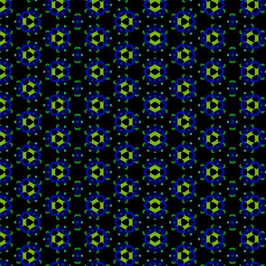 blue green n black