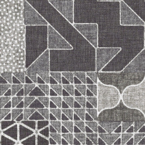 Masala Quilt - charcoal