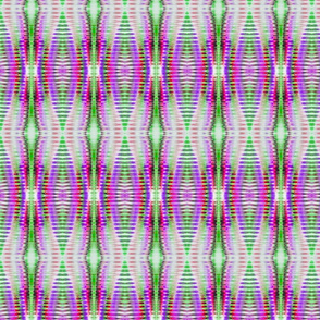 Soft Pastel Ribbed Lavender & Lime Stripes