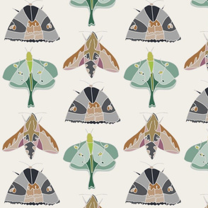March with the Moon Moth - Linen