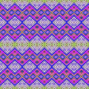 Purple Ribbed Diamond Stripes