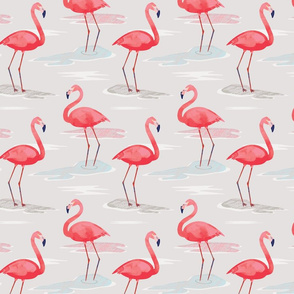 Tall Flamingos (small) by Mount Vic and Me