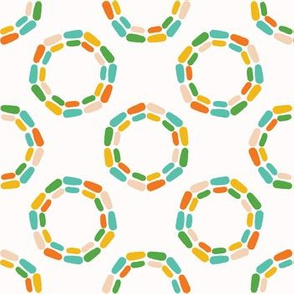 Abstract dotty retro circles.