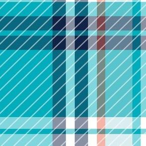 Mariner Plaid - Aqua Jumbo Scale