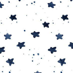 rotated navy watercolor stars