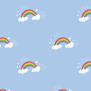 Rainbows on Blue Smaller