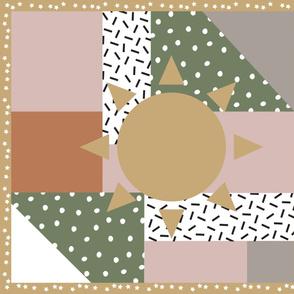 Modern Sun Cheater's Quilt (1 yd)