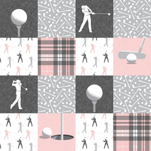 golf wholecloth - pink plaid - LAD19BS