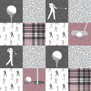 golf wholecloth - mauve plaid - LAD19BS