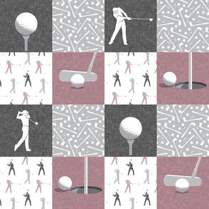 golf wholecloth - mauve - LAD19BS