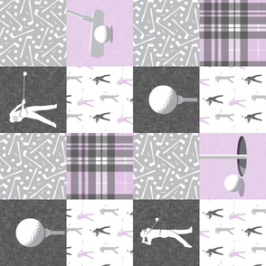 golf wholecloth - purple plaid - LAD19BS