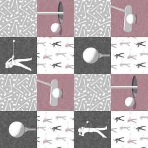 golf wholecloth - mauve (90) - LAD19BS