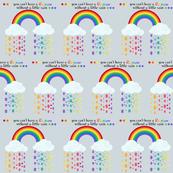 Autism acceptance rainbow 2