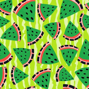 Green Summer Watermelon