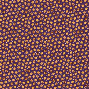 Pumpkins On Purple Tiny