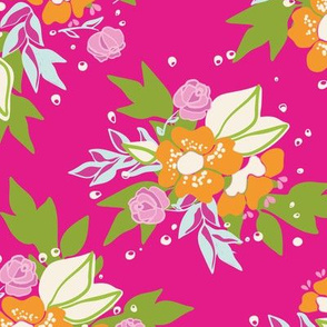 Pink Floral Bloom Pattern