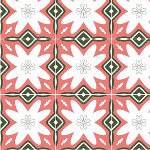 Pink and green ornaments#2