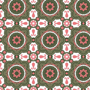 Greenery and pink ornaments #4