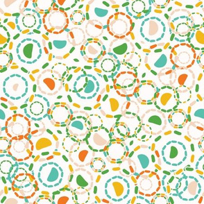 Abstract dotty retro circles