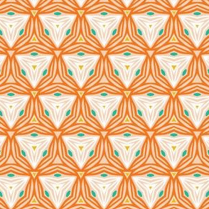 Geometric retro line triangle shapes seamless pattern.