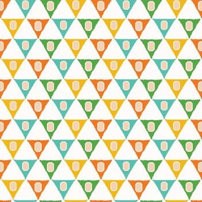 Geometric retro triangle shapes seamless pattern. seaml_stock
