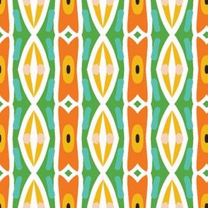 Geometric retro tribal mark stripes seamless pattern.
