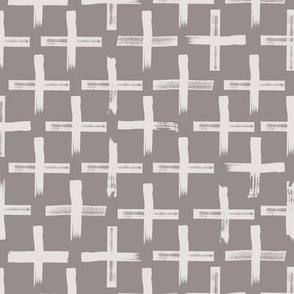 Cross Marks - Taupe