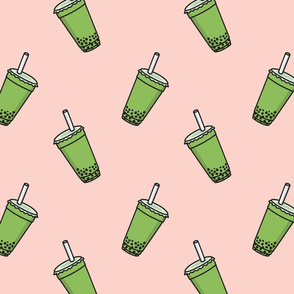 matcha bubble tea boba