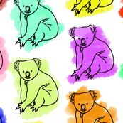 koala pattern colored