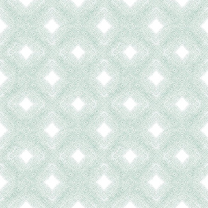 Diamond Mesh in Velvety Pastel Green Reversed