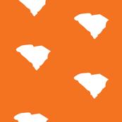 South Carolina State Shape Stripes Orange and White