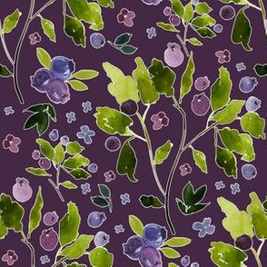 "6"" Autumn Berries Eggplant Background"